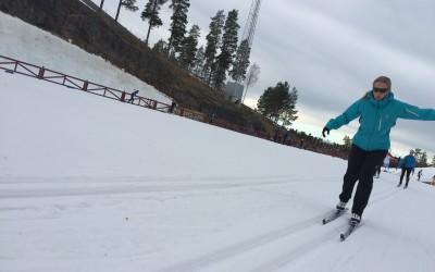 Extra skidteknikträningar på snö