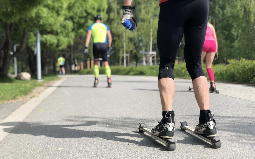 Prova-på-träning i Falun (Rullskidor)